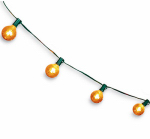 Noma/Inliten-Import V51609-88 Christmas Light Set, G50 Globe, Gold Mercury Glass, 10-Ct.