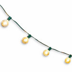Noma/Inliten-Import V51611-88 Christmas Light Set, G50 Globe, Silver Mercury Glass, 10-Ct.