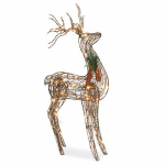 Noma/Inliten-Import V53135-88 Grapevine Standing Deer Christmas Lawn Decoration, Lighted, 48-In.