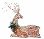Noma/Inliten-Import V53136-88 Grapevine Laying Deer Christmas Lawn Decoration, Lighted, 42-In.