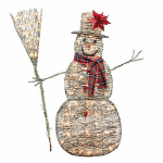 Noma/Inliten-Import V53138-88 Grapevine Snowman Christmas Lawn Decoration, Lighted, 48-In.