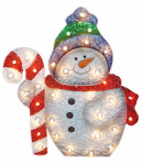 Noma/Inliten-Import V53730-88 Snowman Christmas Lawn Decoration, Lighted, PVC, 36-In.