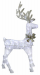 Noma/Inliten-Import V53059-88 Glitter Mesh Standing Deer Christmas Lawn Decoration, 90 White LED Lights
