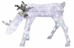 Noma/Inliten-Import V53060-88 Glitter Mesh Feeding Deer Christmas Lawn Decoration, 90 White LED Lights