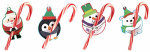 Berwick Offray 934391-ABTJ Christmas Holiday Treat Gift Tags, Assorted Designs, 3.5 x 2-In., 6-Ct.