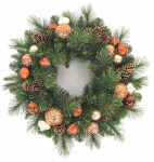 Equinox 2 CPC-406-26 Artificial Christmas Wreath, Cappuccino, 26-In.