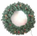 Equinox 2 VAL-416-24 Valley Pine Artificial Wreath, 24-In.
