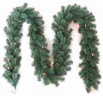 Equinox 2 VAL-515-910 9' CLR or Clear or Cleaner Pine Art Garland