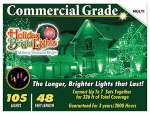 Holiday Bright Lights 105BX-GC-MU Christmas Light Set, Commercial-Grade, Multi, 105-Ct.