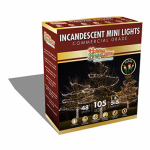 Holiday Bright Lights 105BX-GC-CL Christmas Light Set, Commercial-Grade, Clear, 105-Ct.