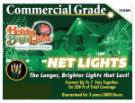 Holiday Bright Lights 105BX-NET-CL Christmas Net Light Set, Commercial-Grade, Clear, 4 x 6-Ft.