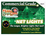 Holiday Bright Lights 150BX-NET-MU Christmas Net Light Set, Commercial-Grade, Multi, 4 x 6-Ft.
