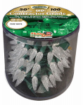 Holiday Bright Lights REEL-C6150-WW Christmas LED Light Set, C6, Commercial-Grade, Warm White, 150-Ct. Reel