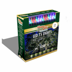 Holiday Bright Lights LEDBX-T5100-MU Christmas LED Light Set, T5, Commercial-Grade, Multi, 100-Ct.