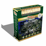 Holiday Bright Lights LEDBX-T5100-WW Christmas LED Light Set, T5, Commercial-Grade, Warm White, 100-Ct.