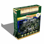 Holiday Bright Lights LEDBX-T550-WW Christmas LED Light Set, T5, Commercial-Grade, Warm White, 50-Ct.
