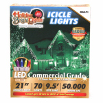 Holiday Bright Lights LEDBX-T570-IC-MU Christmas LED Light Set, T5, Commercial-Grade, Multi, 70-Ct.