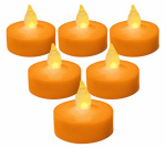 Noma/Inliten-Import V31037-88 Halloween Tea Lights, Battery-Operated, 6-Pk.