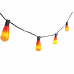 Noma/Inliten-Import V33135-88 Edison-Style Bulb Halloween Light Set, Orange, 10-Ct.