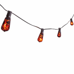 Noma/Inliten-Import V33152-88 Halloween Edison-Style Bulb Light Set, Orange & Black Crackle, 10-Ct.