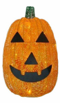 Noma/Inliten-Import V34222-88 Lighted Pumkin, Battery-Operated, 30 Orange LED Lights, 16-In.