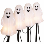 Noma/Inliten-Import V37135-88 Halloween Pathway Lights, Ghost, 4-Pc. Set