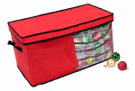 Dyno Seasonal Solutions 77016-1CC Christmas Ornament Storage Box, Red, 82-Ct.
