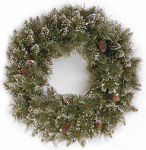 National Tree Co-Import GB1-10-24W-T Artificial Christmas Wreath, Glittery Bristle Pine, 24-In.