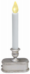 Noma/Inliten-Import V1532-88 Christmas LED Lighted Candle, Battery-Operated, Brushed Silver, 9-In.