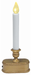 Noma/Inliten-Import V1533-88 Christmas LED Lighted Candle, Battery-Operated, Gold, 9-In.