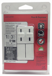 Pass & Seymour LSDC163PWV Fan Control & Light Dimmer, Dual Slide, White, 300-Watt