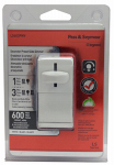 Pass & Seymour LS603PWV Light Dimmer, 3-Way Slide, White, 600-Watt