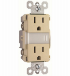 Pass & Seymour NTL885TRICC6 LED Night Light, Auto-On, Ivory, 15-Amp