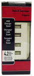 Pass & Seymour TM8USB4LACC6 USB Charger, 4-Outlet, Light Almond