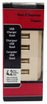 Pass & Seymour TM8USB4ICC6 USB Charger, 4-Outlet, Ivory