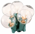Noma/Inliten-Import 1059-88 Christmas Replacement Bulbs, G40, Clear, 2-Pk.