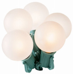 Noma/Inliten-Import 1060-88 Christmas Replacement Bulbs, G40, Frosted, 2-Pk.