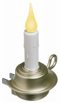 Xodus Innovations FPC1255P LED Candle Night Light, Rotating Plug, Pewter-Look Base