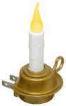 Xodus Innovations FPC1255 LED Candle Night Light, Rotating Plug, Brass-Look Base