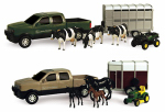 Tomy International 37656B Pickup & Livestock Trailer Toy Set, Assorted