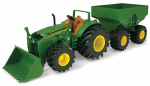 Tomy International 46260 Monster Treads Toy Tractor With Wagon, 8-In.