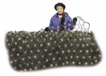 Noma/Inliten-Import 47903-88 Christmas LED Net Light, Micro or Micron or Microfiber Twinkling, Warm White, 4 x 6-Ft.