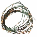 Gerson 35229 Christmas LED Micro or Micron or Microfiber Light Set, Battery-Operated, Green Wire, 36 Warm White Bulbs