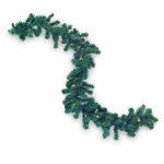 Gerson 2175830 LED Artificial Garland, Color-Changing, 10-In. x 6-Ft.