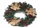 "Gerson 2170340 HW24"" Burlap Art Wreath"