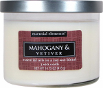 Candle Lite 1542293 Scented Candle, Mahogany & Vetiver, 14.75-oz. Jar