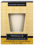 Candle Lite 1540344 Scented Candle, Vanilla & Sandalwood, 9-oz. Jar