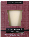 Candle Lite 1540293 Scented Candle, Mahogany & Vetiver, 9-oz. Jar