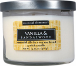 Candle Lite 1542344 Scented Candle, Vanilla & Sandalwood, 14.75-oz. Jar