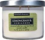 Candle Lite 1542350 Scented Candle, Lemongrass & Coriander, 14.75-oz. Jar